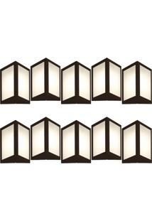 Arandela Triangular Marrom Kit Com 10 Casah - Marrom - Dafiti
