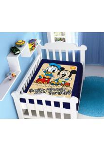 Cobertor Infantil Disney Mickey E Donald Azul Marinho Jolitex