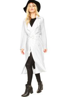 Casaco Morena Rosa Trench Coat Off-White