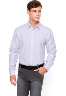 Camisa Social Calvin Klein White Label Cinza