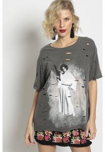 Camiseta Star Warsâ® - Cinza & Brancapop Up