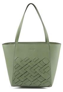 Bolsa Shopping Bag Tressê Verde Claro - Verde Claro/Un