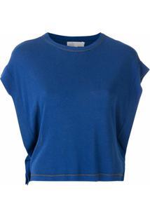 Nk Blusa Com Bordado - Azul