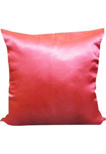 Capa Para Almofada Cetim Liso 45X45 - Perfil Matelados - Rosa Escuro