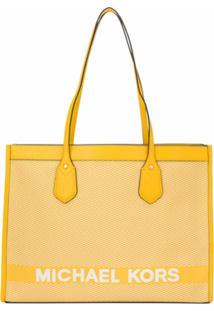 Michael Michael Kors Bolsa Tiracolo Com Logo - Amarelo
