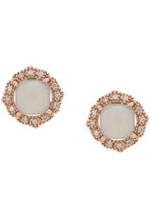 V Jewellery Par De Brincos Chalcedony - Rosa