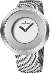 Relógio Analógico Com Relevo Jv00079A- Prateado- Jeajean Vernier