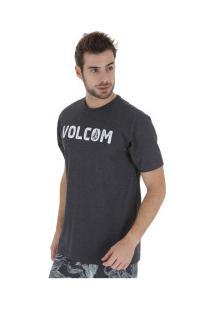 Camiseta Volcom Bold - Masculina - Preto Mescla