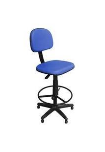 Cadeira Recepçáo Pethiflex Csx-02 Caixa Alta Giratória Azul