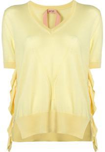 Nº21 Blusa De Tricô - Amarelo