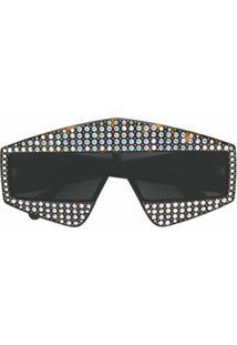 Gucci Eyewear Óculos De Sol Com Aplicações - Marrom