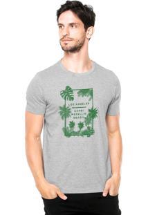 Camiseta Rgx La Capri Med Br Cinza