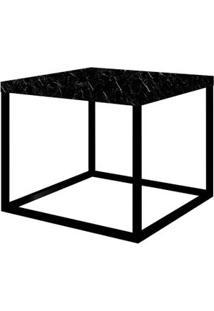 Mesa Centro Cube Preta Base Preta 0,32 (Alt) - 58945 - Sun House
