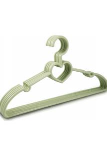 Cabide Com 5 Peças - Adulto Jacki Design Lifestyle Verde - Kanui