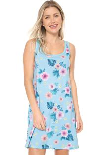 Camisola Malwee Liberta Curta Floral Azul