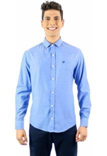 Camisa Norfolk Com Padronagem Geométrica - Masculino