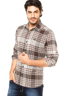 Camisa Forum Xadrez Marrom