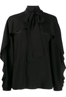Red Valentino Pussy-Bow Blouse - Preto