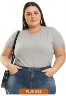Body Básico Cinza Miss Masy Plus