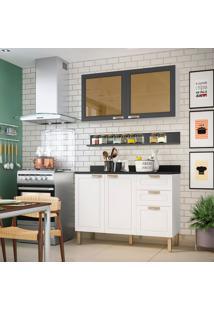 Cozinha Compacta Nevada Iii 4 Pt 3 Gv Branca E Grafite