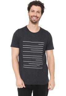 Camiseta Aramis Lines Grafite/Branca
