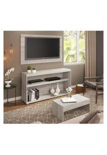 Rack C/Painel Tv Até 50 Pol.Mesa De Apoio Atualle Multimóveis Carvalle Acetinado Texturizado 2839