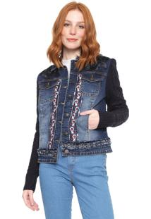 Jaqueta Jeans Desigual Emuná Azul