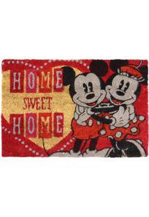 """Capacho Minnie & Mickey® """"Home Sweet Home""""- Vermelho & Bmabruk"""