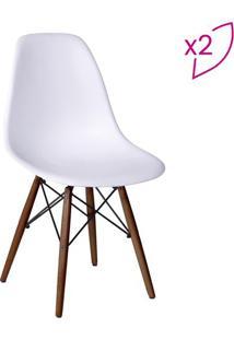 Jogo De Cadeiras Eames Dkr- Branco- 2Pã§S- Or Desor Design