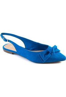 Sapatilha Slingback Laço Via Uno 2020 - Feminino-Azul