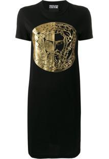 Versace Jeans Couture Camiseta Com Estampa - Preto