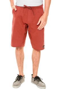 Bermuda Quiksilver Fleece Mimpi Vermelho Bordô
