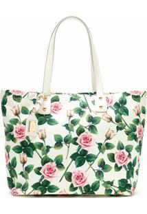 Dolce & Gabbana Bolsa Tote Floral - Branco
