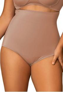Calcinha Cinta Modeladora Shanty Alta Plus Size Chocolate