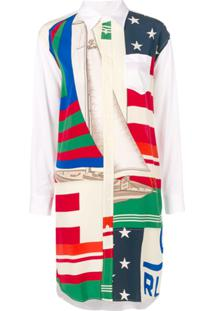 Polo Ralph Lauren Flag Sailboat Print Shirt Dress - Branco 5a8912df7d0