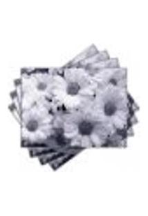 Jogo Americano - Flores Com 4 Peças - 780Jo