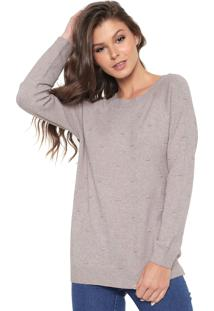 Suéter Facinelli By Mooncity Tricot Textura Bege