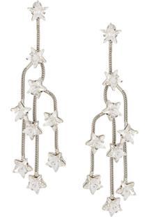 P.A.R.O.S.H. Star Crystal Chandelier Earrings - Prateado