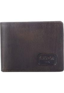 Carteira Rvca Dispatch Leather Marrom