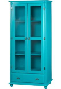 Cristaleira Isaac Com 2 Portas - Azul