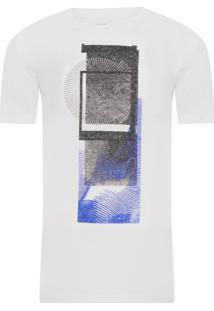 Camiseta Masculina Ckl Estampa E Logo - Off White