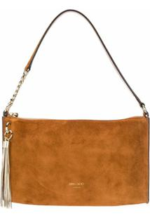 Jimmy Choo Bolsa Hobo Callie Mini - Marrom