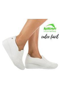 Tênis Kolosh Feminino Anabela Original C1808 Branco