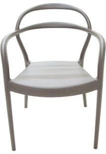 Cadeira Sissi De Polipropileno E Fibra De Vidro - Cor Marrom - Tramontina