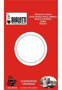 Borracha Para Cafeteira 3 Xícaras Bialetti 3 Peças - 8955