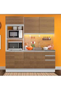 Cozinha Compacta Madesa 100% Mdf Acordes 2 Gavetas 8 Portas Marrom
