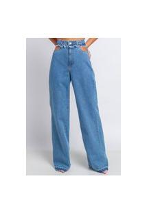 Calça Jeans Poema Hit Wide Leg