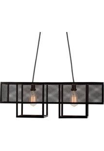 Luminaria Pendente Calisto Estrutura Em Barra Chata De Ferro Cor Preto 0,25 Cm (Alt) - 53561 - Sun House