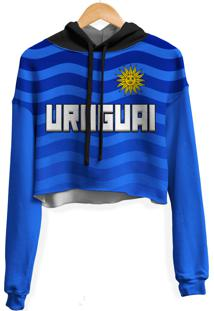 Blusa Cropped Moletom Feminina Over Fame Uruguai Md01