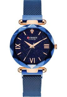 Relógio Curren Analógico C9063L Azul E Rosê
